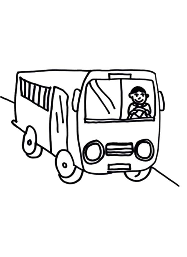 Bus Driver, : How to Draw Bus Driver Coloring Pages