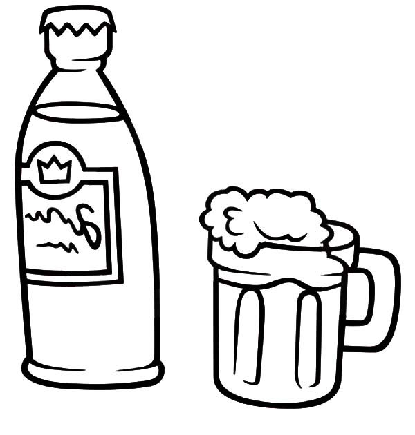 Beer, : How to Draw Mug Beer Coloring Pages