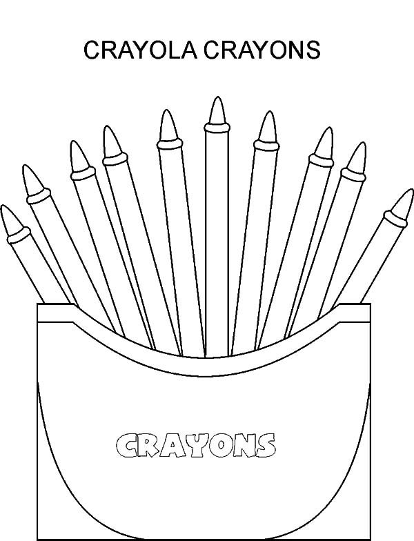 Box Crayons, : Introducing Colour with Box Crayons Coloring Pages