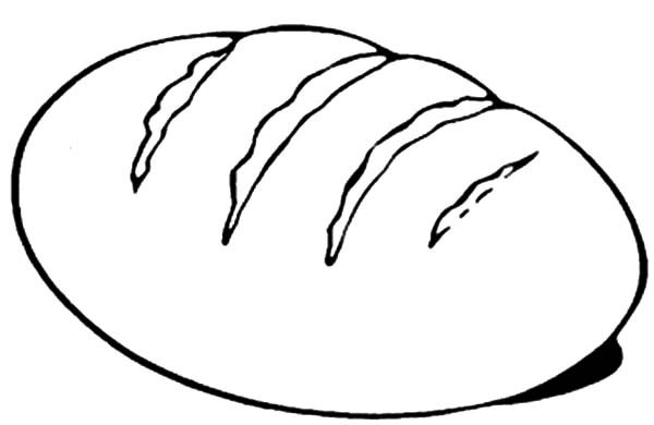 Bread, : Kids Love to Eat Bread Coloring Pages