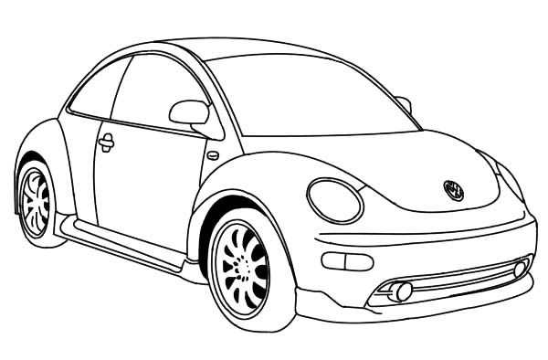 Bug Car Coloring Pages : Latest version of vw beetle car coloring pages best