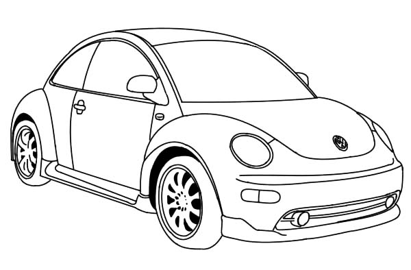 Bug Car Coloring Pages : Latest version of vw beetle car coloring pages