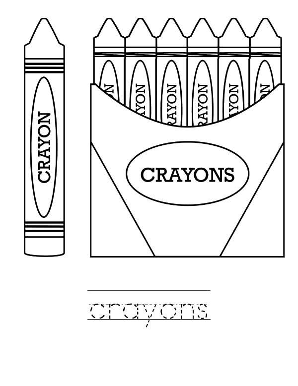 Box Crayons, : Learn to Draw with Box Crayons Coloring Pages