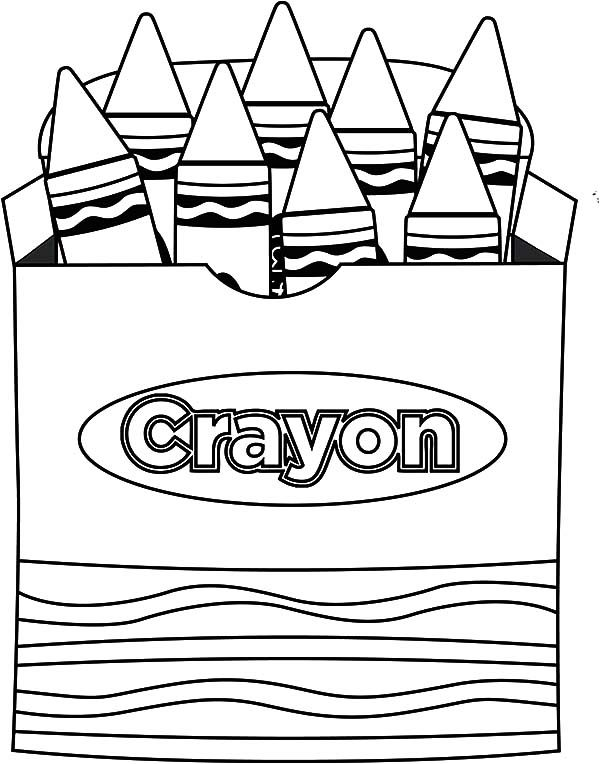 Box Crayons, : Lets Draw Picture Box Crayons Coloring Pages