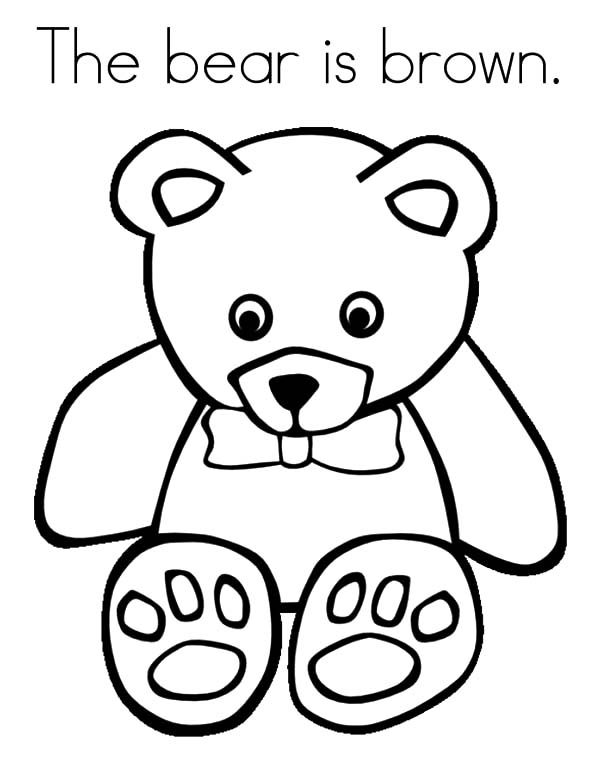 Brown Bear, : Little Brown Bear Coloring Pages