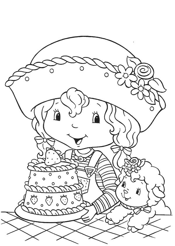 Cakes, : Little Charlotte Birthday Cake Coloring Pages
