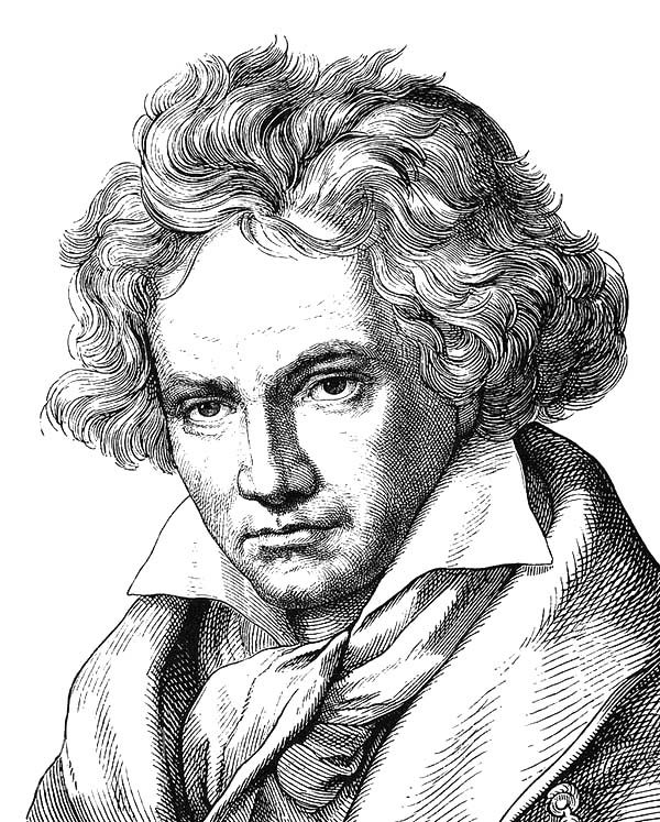 Beethoven, : Ludwig van Beethoven Coloring Pages