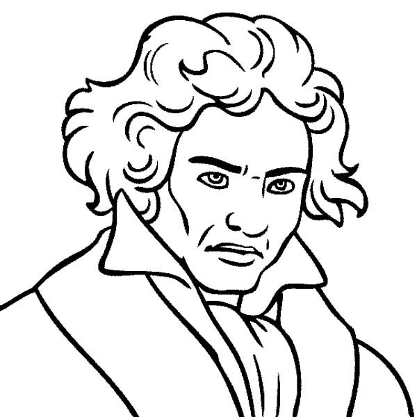 beethoven ludwig van beethoven the great composer coloring pages