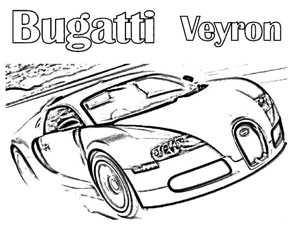 Bugatti Car, : Luxurious Bugatti Car Veyron Coloring Pages
