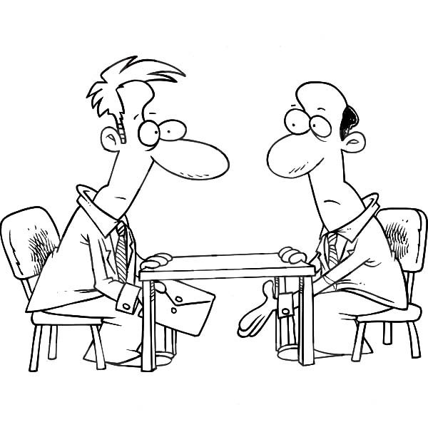 Business, : Making Business Deal Coloring Pages