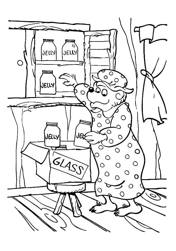 Berenstain Bear, : Mama Bear a Housewife of Berenstain Bear Coloring Pages