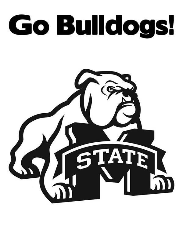 Bulldog, : Michigan State Bulldog Coloring Pages