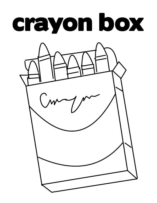Box Crayons, : My Mother Buying Me Box Crayons Coloring Pages
