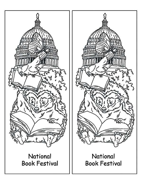 Bookmarks, : National Book Festival Bookmarks Coloring Pages