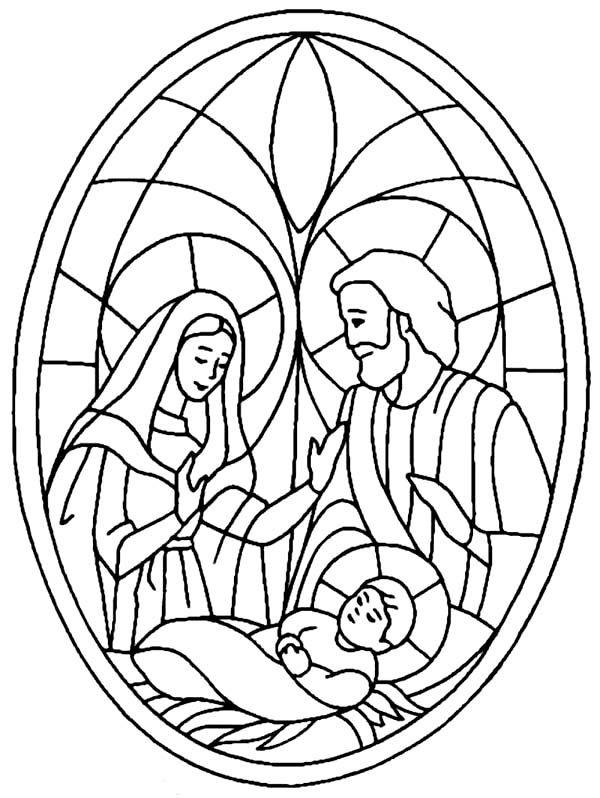 Bible Christmas Story, : Nativity Scene Bible Christmas Story Coloring Pages