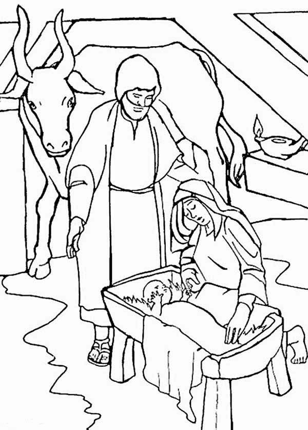 free coloring pages of story of jesus birth