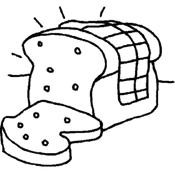 Bread, : Old Bread Covered with Fungus Coloring Pages