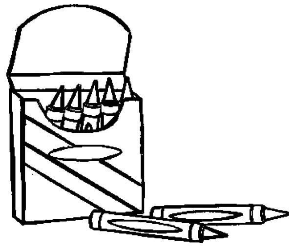 Box Crayons, : Opening Box Crayons Coloring Pages