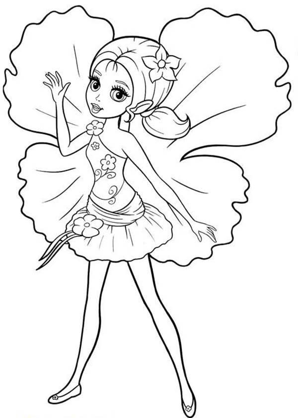 Barbie Thumbelina, : Picture of Barbie Thumbelina Coloring Pages