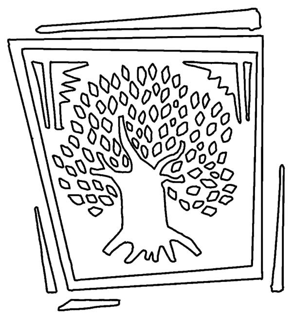 Arbor Day, : Picture of Big Tree on Arbor Day Coloring Pages