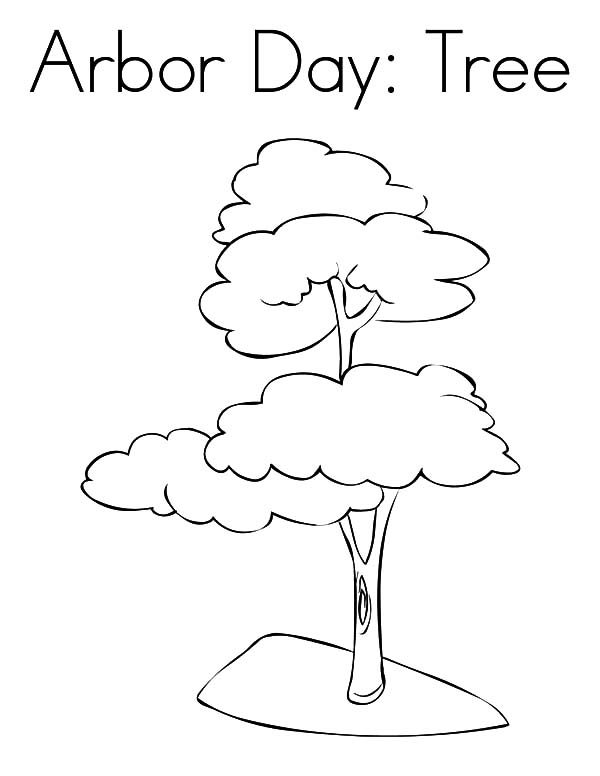 Arbor Day, : Plant a Tree on Arbor Day Coloring Pages