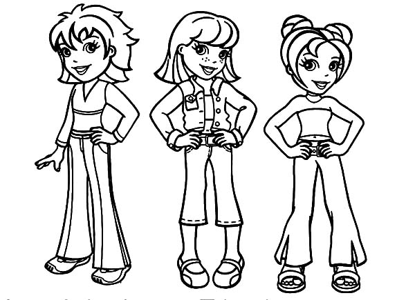 Polly Pocket And Friends Coloring Pages Best Friends Polly Pocket