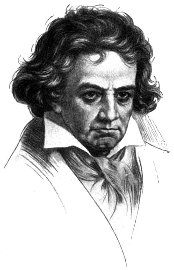 Beethoven, : Potrait of Beethoven Coloring Pages
