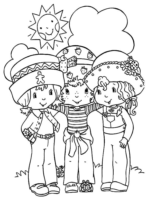 Best Friends, : Preschoolers Best Friends Coloring Pages