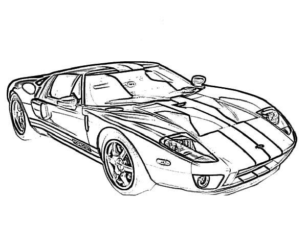 Bugatti Car, : Racing Car GT Bugatti Car Coloring Pages