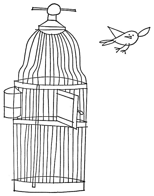 bird cage coloring pages - photo#12