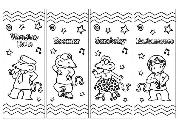 Bookmarks, : Rocksteady Reggae School Bookmarks Coloring Pages