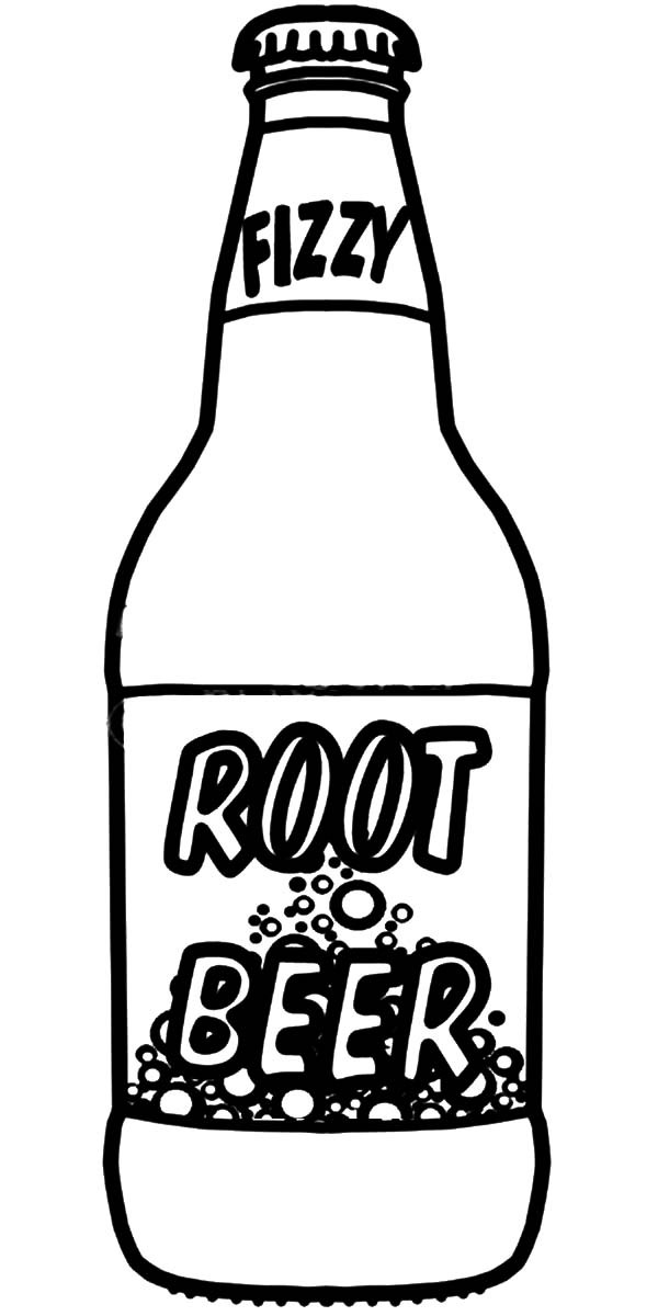 Beer, : Root Beer Bottle Coloring Pages