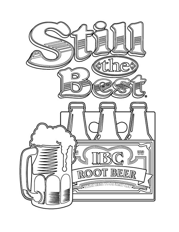 Root Beer Still the Best Beer Coloring Pages | Best Place to Color