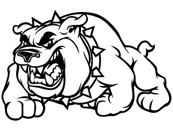 Scary bulldog coloring pages