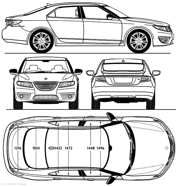 BMW Car, : Section Parts BMW Car Coloring Pages