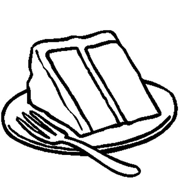 Cakes, : Serving Delicious Cake Coloring Pages