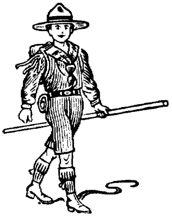 Boy Scouts, : Skecth of Boy Scouts Coloring Pages