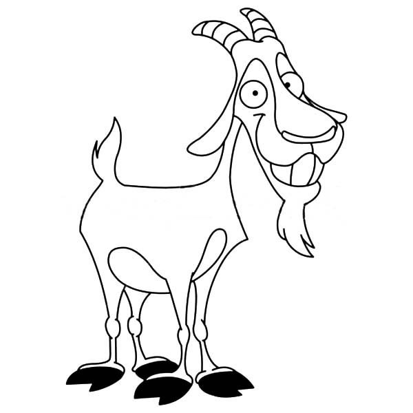 Smiling Billy the Goat Coloring Pages Best Place to Color