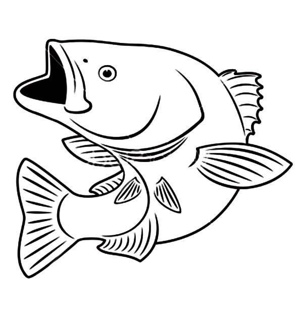 Sniper Bass Fish Coloring Pages