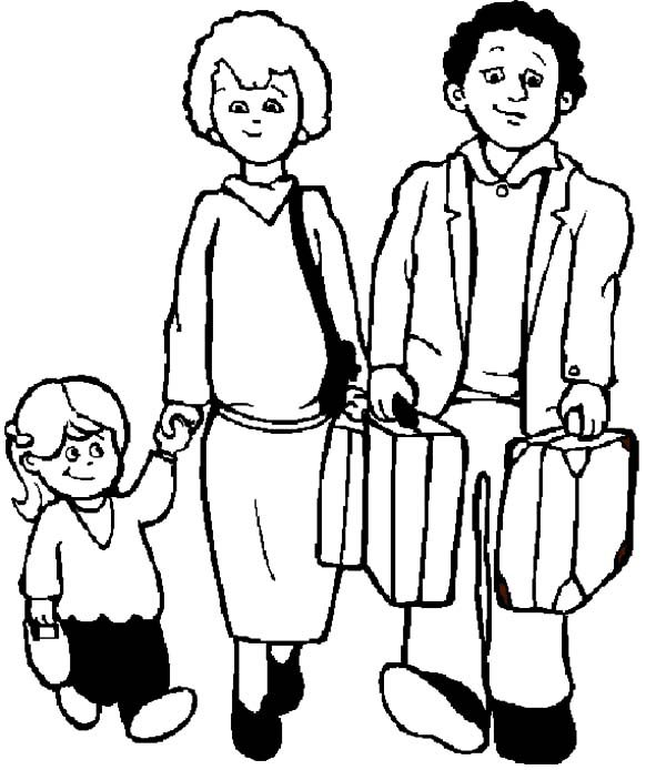 Business, : Successful Business Man and His Family Coloring Pages