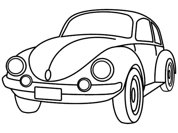 Coloring Pages Cars Cartoon : Super beetle car coloring pages best place to color
