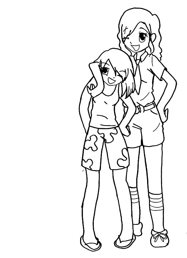 Best friends whenever coloring pages coloring pages for Best friend coloring page