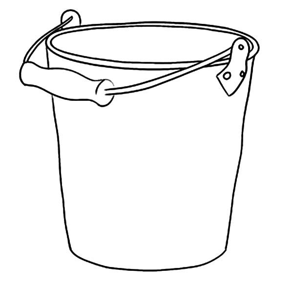 Bucket, : Taking Water with Bucket Coloring Pages
