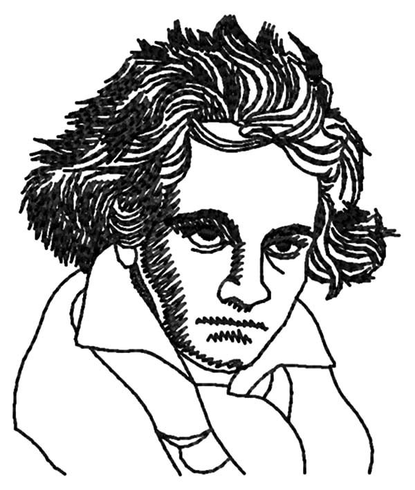 Beethoven, : Talented Musician Ludwig van Beethoven Coloring Pages