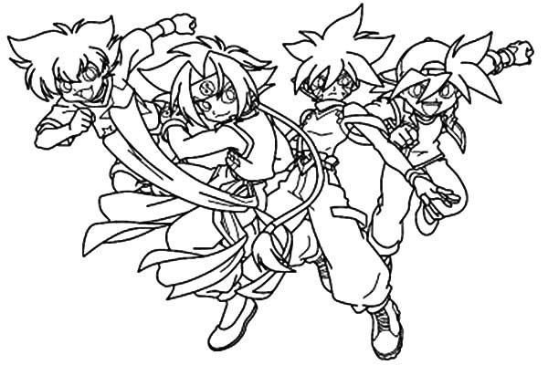 Beyblade, : Team Fight Beyblade Coloring Pages