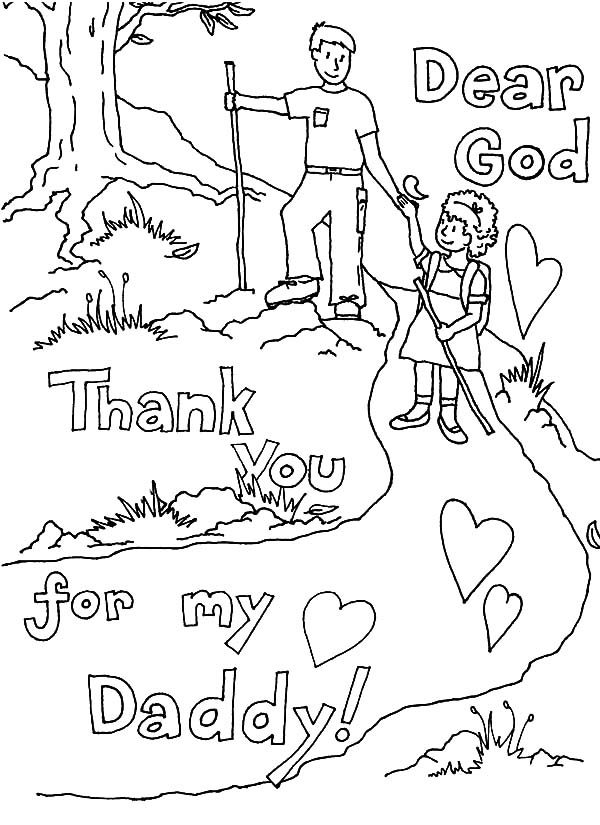 Best Dad, : Thank You God You Give Me the Best Dad Coloring Pages
