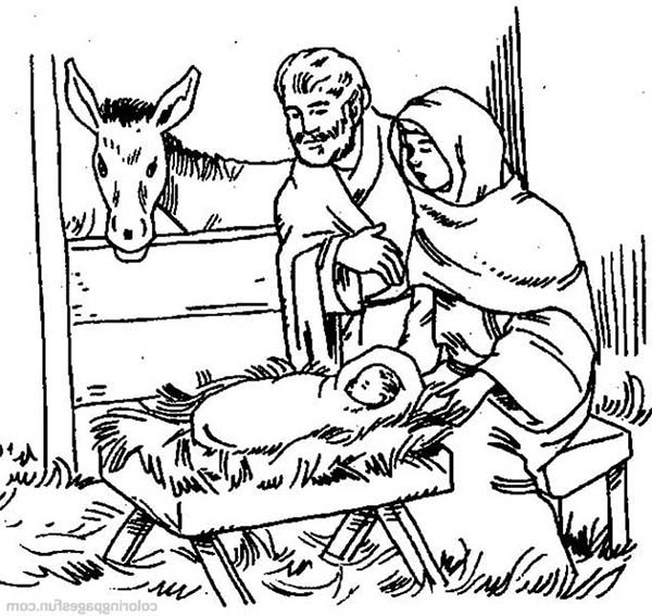 Bible Christmas Story, : The Birth of Jesus Bible Christmas Story Coloring Pages
