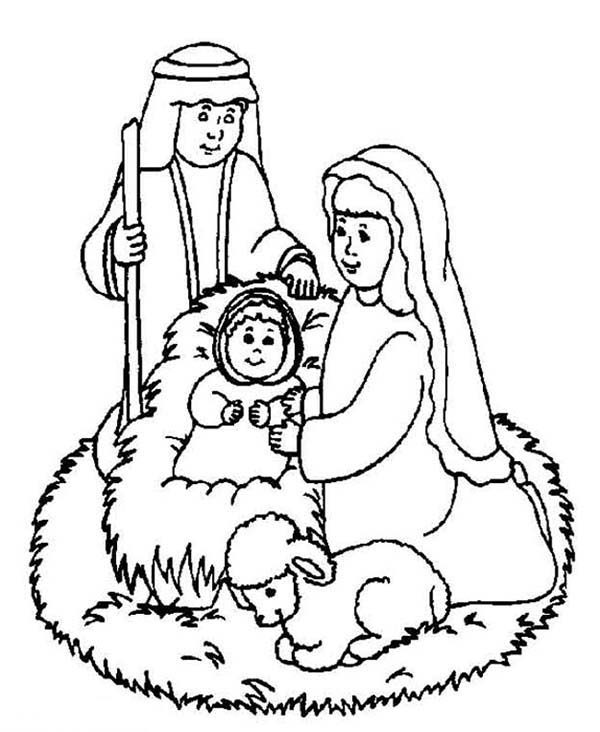 Bible Christmas Story, : The Born of Jesus Christ Bible Christmas Story Coloring Pages