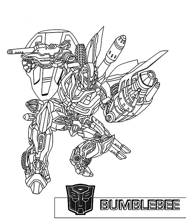 Bumblebee Car, : The Famous Bumblebee Car Coloring Pages