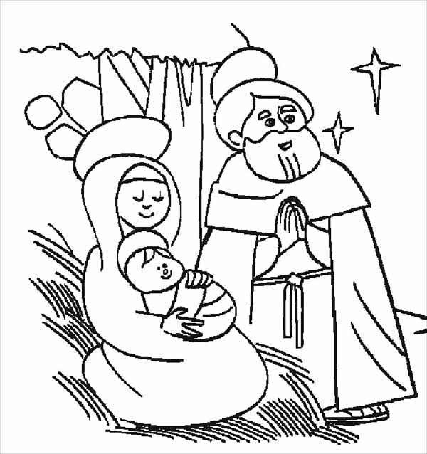 Bible Christmas Story, : The Night Jesus Was Born Bible Christmas Story Coloring Pages